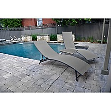 Image Of Vivere Midtown 3 Piece Aluminum Patio Lounger Set