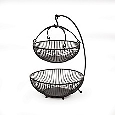 image of Gourmet Basics by Mikasa® Spindle 2-Tier Basket With Banana Hook