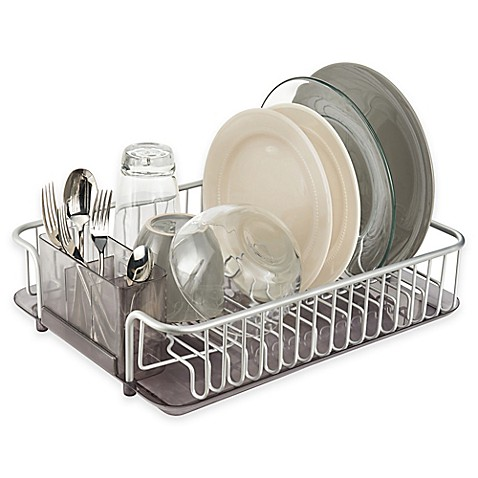 Dish Racks Drainers Stainless Steel Dish Racks Bed Bath Beyond - Kitchen sink drainer