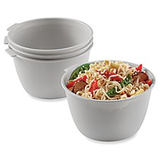 image of SALT™ Stackable Microwave Bowls (Set of 4)