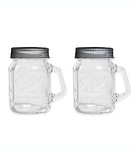 Salero y pimentero de vidrio Mason Jar®
