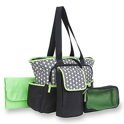 carter 39 s 5 piece tote diaper bag set in geo star print. Black Bedroom Furniture Sets. Home Design Ideas