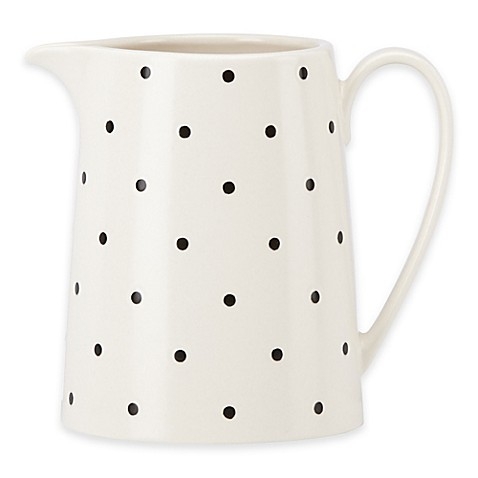 Kate spade new york larabee dot cream creamer bed bath for Bed bath and beyond kate spade