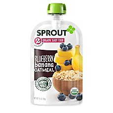 image of Sprout® 3.5 oz. Stage 2 Blueberry Banana Oatmeal Organic Baby Food