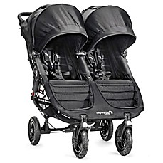 image of Baby Jogger® City Mini® GT Double Stroller in Black/Black