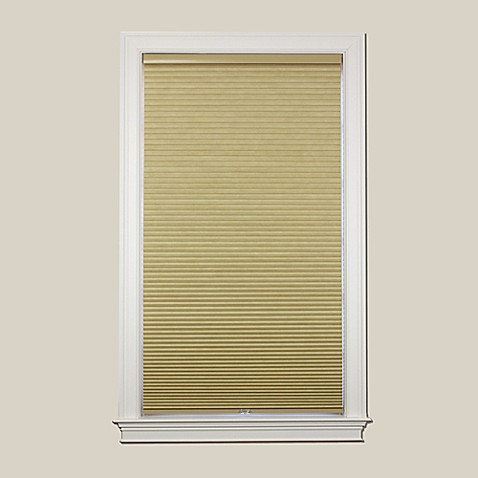 buy baby blinds cordless blackout cellular 48 inch x 64 inch shade in wheat from bed bath beyond. Black Bedroom Furniture Sets. Home Design Ideas