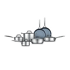 image of Zwilling J.A. Henckels Energy 12-Piece Ceramic-Coated Stainless Steel Cookware Set