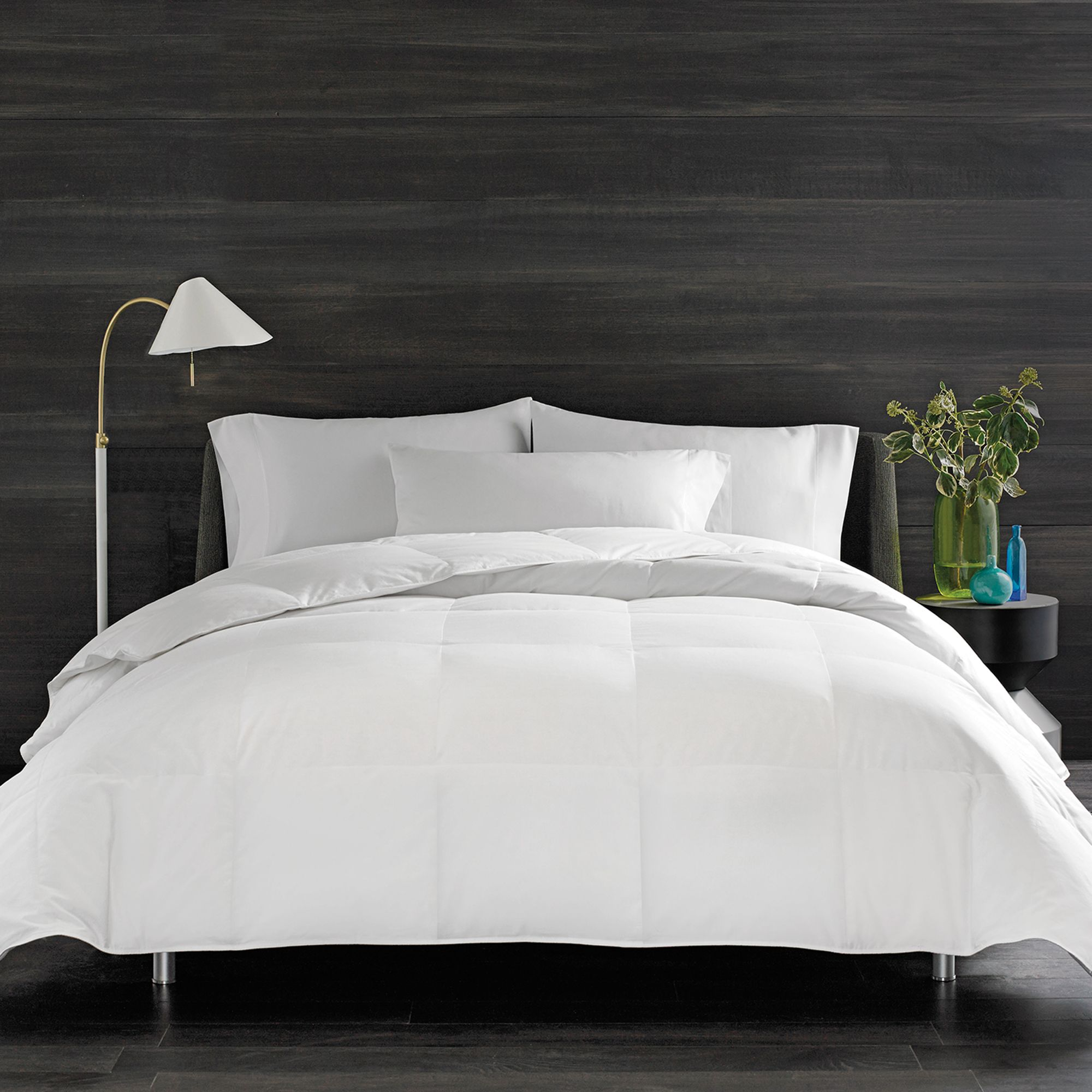 real simple solid down alternative comforter bed bath u0026 beyond