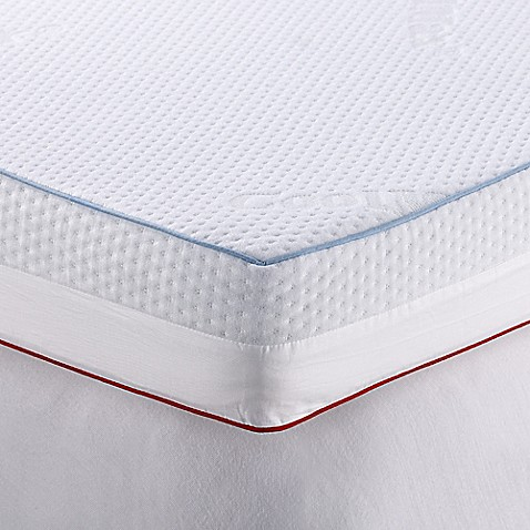 therapedic® 4-inch dual season mattress topper in white - bed bath