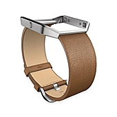image of Fitbit® Blaze™ Large Leather Accessory Band in Camel