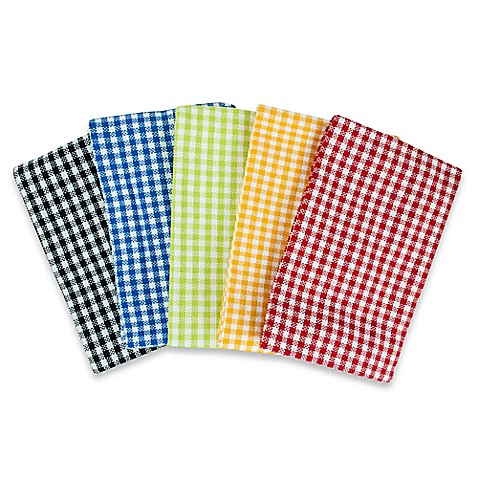 Bbq Heavyweight Cotton Kitchen Towels Set Of 5 Bed Bath Beyond