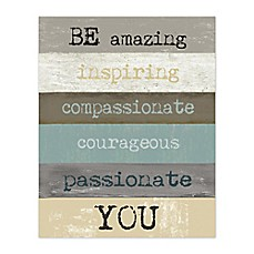 Be Amazing You Canvas Wall Art