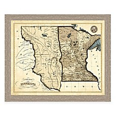 World map wall art world map decor bed bath beyond image of map of minnesota framed print gumiabroncs Gallery