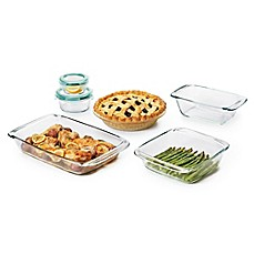 image of OXO Good Grips® 8-Piece Glass Baking Dish Set with Lids