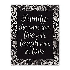 Family Love Canvas Wall Art