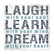 image of Laugh Learn Dream Canvas Wall Art