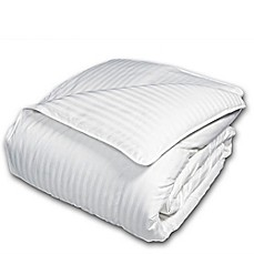 image of The Seasons Collection® Light Warmth Down Comforter with Damask Stripe