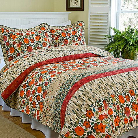 Poppies And Posies Reversible Quilt Set Bed Bath Beyond