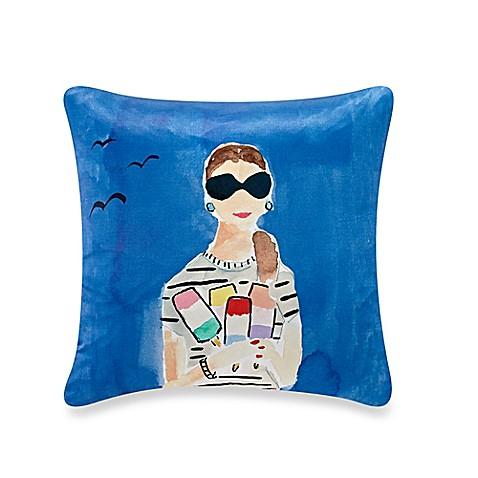 kate spade new york Beach Day Throw Pillow in Blue - Bed Bath & Beyond