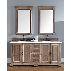 image of james martin furniture 72inch providence vanity with stone top in driftwood