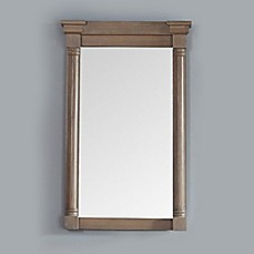 image of James Martin Furniture Savannah/Providence 27-Inch Rectangular Mirror in Driftwood