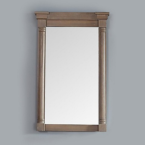 Buy James Martin Furniture Savannah Providence 27 Inch Rectangular Mirror In Driftwood From Bed