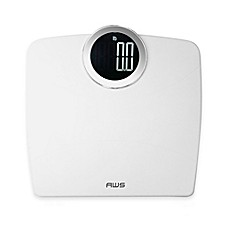 American Weigh Scales Luma Digital Bathroom Scale In White