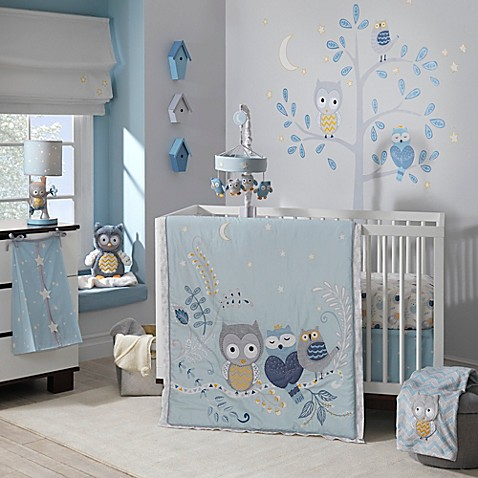 Lambs Amp Ivy 174 Night Owl Crib Bedding Collection Buybuy Baby