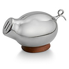 image of nambe kibo stainless steel piggy bank