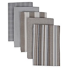 image of Performance 5-Pack Kitchen Towels in Grey