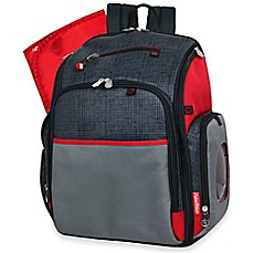 image of fisherprice deluxe fastfinder backpack diaper bag in black - Baby Diaper Bags