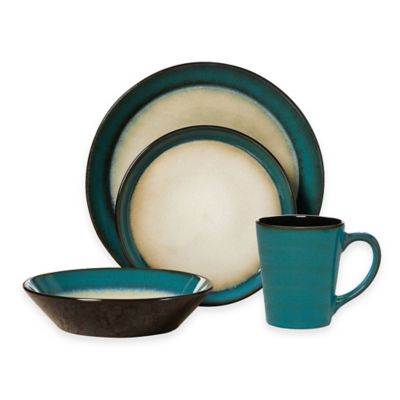 image of Pfaltzgraff® Aria 16-Piece Dinnerware Set in Teal