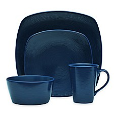 image of Noritake® Navy on Navy Swirl Square Dinnerware Collection