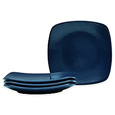 image of Noritake® Navy on Navy Swirl Square Appetizer Plates (Set of 4)