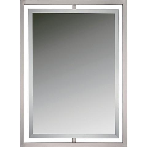 Quoizel marcos 24 inch x 32 inch rectangular mirror in - Silver bathroom mirror rectangular ...