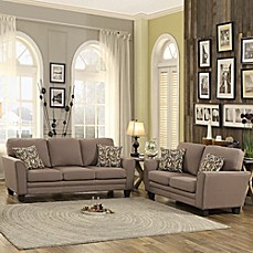 image of Verona Home Harthan 2-Piece Loveseat and Sofa Set