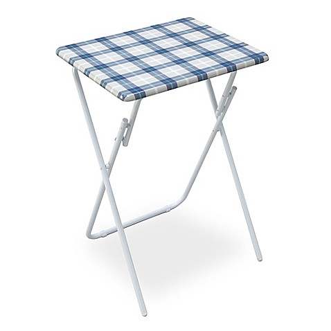 folding snack tray table bed bath beyond. Black Bedroom Furniture Sets. Home Design Ideas