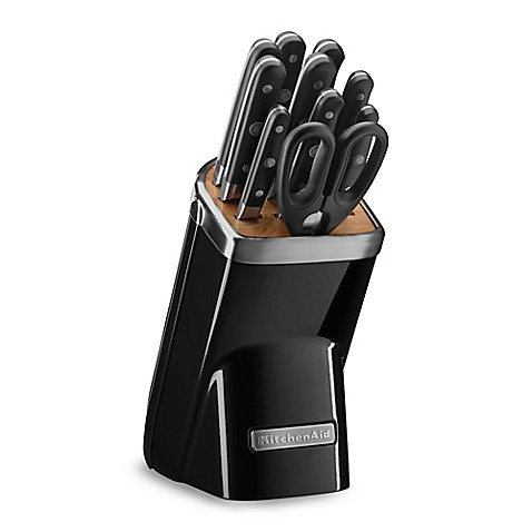 Buy Kitchenaid Professional Series 11 Piece Knife Block Set In Onyx Black From Bed Bath Beyond