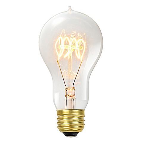 vintage edison 60 watt a19 light bulb in clear bed bath. Black Bedroom Furniture Sets. Home Design Ideas