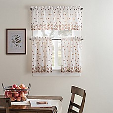 Image Of Fresh Bloom Kitchen Window Curtain Tiers And Valance