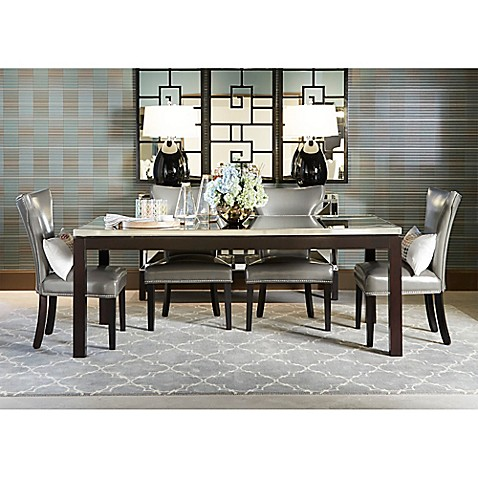 nelson shaped parsons dining chairs and taney dining table collection