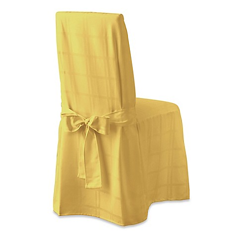 Buy Origins Microfiber Dining Room Chair Cover In Yellow