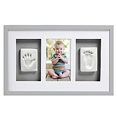 image of Pearhead® Babyprints 4-Inch x 6-Inch Deluxe Wall Frame in Grey