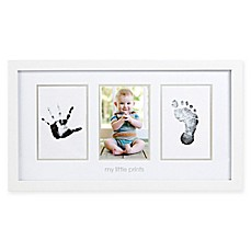 Baby boy girl photo frames buybuybaby bed bath beyond pearhead babyprints 4 inch x 6 inch photo frame in white negle Images