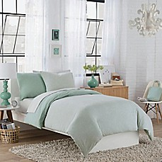 image of Regan Reversible Duvet Cover Set in Aqua