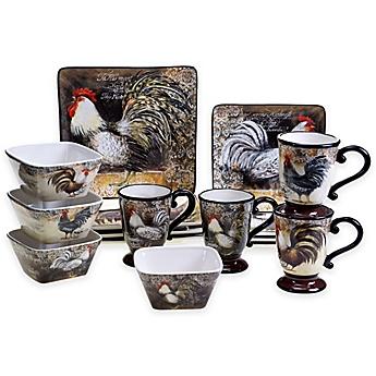 Certified International Vintage Rooster 16-Piece Dinnerware Set  sc 1 st  Bed Bath \u0026 Beyond & rooster dinnerware | Bed Bath \u0026 Beyond