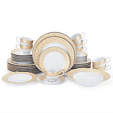 image of Mikasa® Parchment Gold 42-Piece Dinnerware Set