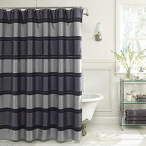 Buy jardin stripe 54 inch x 78 inch fabric shower curtain for Jardin gally 78