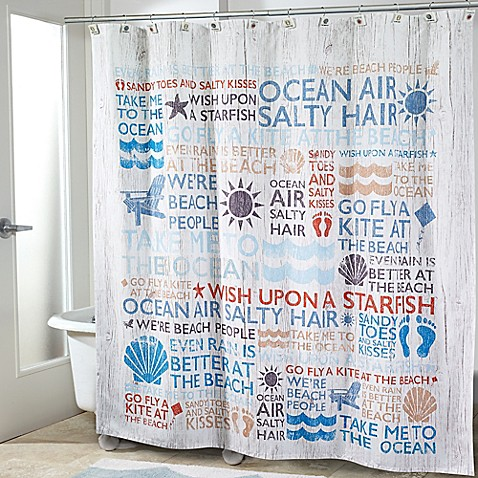 Avanti Beach Words Shower Curtain - Bed Bath & Beyond