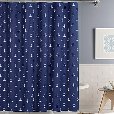Ordinaire Anchors Away Shower Curtain